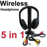 Wireless Earphone Headphone 5 in 1 for MP3 TV CD PC 20014