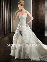 New fashion boutique luxury chiffon satin beaded sexy the Bra trailing bride wedding