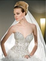 New Arrive Sweetheart A-line Chiffon with Beading Off the Shoulder Wedding Dress