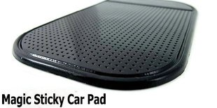 Free shipping retail  2012 hot sale Anti-Slip Anti-shake Magic Sticky Car Pad for Cell Phone (Black, transparent) / Bella