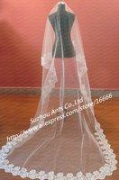 V0001 Free Shipping Best Selling Long Lace Wedding Bridal Veils