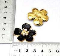 Fashion zion alloy black flower Mobile Phone Beauty Accessory