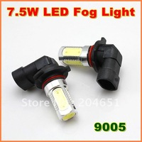 7.5W  Super Bright  9005  LED Fog Lamp  Aluminum housing  LED Auto Lamp  1year warranty   free shipping  (01010702)