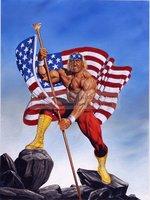 Joe Jusko's WWF Paintings Strange Kids Club Figure oil painting artwork,hand painted Strong man portrait oil paintings on canvas