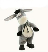 Free shipping,Electronic pet donkey, can dance sing shook his head electric donkey, rock donkey, children funny toy