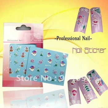 20pcs/lot  Nail Sticker Christmas series-1 ,free shipping.15 different design