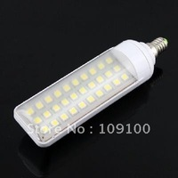 Free shipping /E14 6W 30-LED 5050 SMD Energy Saving Lamp Light Bulb 190-230V Warm White