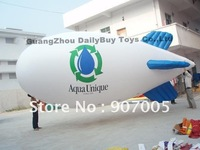 BL02 Crazy Price! PVC 26ft 8m inflatable helium airship/blimp/zeppelin with tail &  Free Shipping & Free Reapir kits