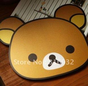 Free Shipping cute Rilakkuma shape mouse pad/mouse mat