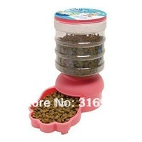 Y2 New arrival ! Pet Dog Cat Automatic Food Dispenser  Dish Bowl Feeder, capacity 2L