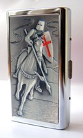 Stainless steel cigarette case 14 branch extended------Crusader Knights