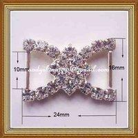 10mm inner bar rhinestone buckle for wedding invitation card