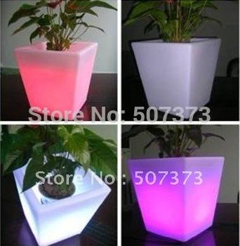 LED flower planters RECHARGEABLE  BUCKET POT VASE  BARREL PAIL LAMP,REMOTE CONTROL, COLOR CHANGEABLE CHRISTAS NEW YEAR VALENTINE