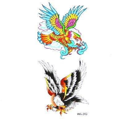 Free shipping /New Temporary Tattoos Eagles Pattern Design Vivid 5pc ...