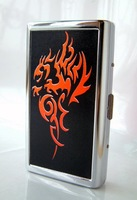 Stainless steel cigarette case 14 branch extended------Flame Dragon