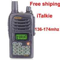 ITALKIE MT-328 VHF 136-174MHz  2 two way radio walkie talkie with FM radio (Hareto H-5118) H555