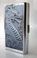 Stainless steel cigarette case 14 branch extended------Dragon