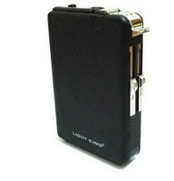 Black automatic  alloy cigarette case with windproof lighter,auto cigarette box,cigarette holder