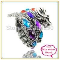 Newest imitation Gemstone Dragon Bangle Bracelet Adjustable Gemstone Bangle Multicolor One Min $10 Can Mix Free Shippig