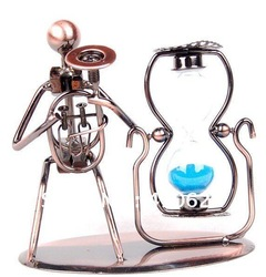 Stylish Handcraft Iron Music Artist Blue/Purple/Pink Hourglass,Best Gift For Friend Free shipping(China (Mainland))