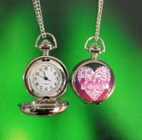 W12322-215  free shipping10pcs/lot MIXED ITEMS beautiful LOVE fashion watch pendant watch necklace pocket watch pendant jewelry