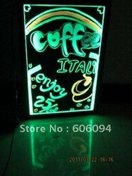 2012 hot sale 40*60cm neon light transparent pvc led writing board(China (Mainland))