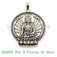 Free Shipping Classic Antique Brass Plated Buddha Pendant