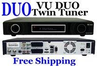Vu Duo Vu+Duo Twin DVB-S2 tuner twin tuner PVR Linux Smart BCM7335 Digital dvb-s2 Receiver  Free Shipping 3pcs/lot