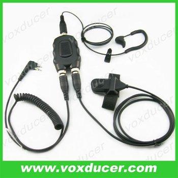 Ear bone vibration microphone for Motorola uhf vhf radio CP125 CP150 CP200