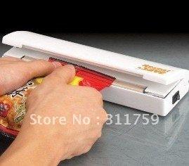 Free Shipping 48pcs/lot Reseal and Save Bag Sealer Food Saver As Seen On TV Portable Vacuum Sealer