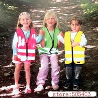 Children Safety Vest-Green Pink Yellow