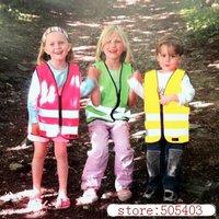 Kids Safety Vest Hi Vis Children Reflective Vest-Green Pink Yellow