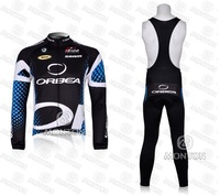 free shipping ORBEA 11 Winter Thermal Fleece Long Sleeved Cycling Jersey + bib Pants