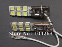 Wholesale Free shipping 12V H3 12 SMD 5050 Car LED Light, Fog Light Bulbs