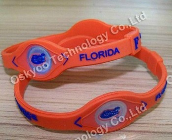 2012 free shipping US Football silicone bracelet bands Florida Gators sports bracelet NCAA bracelets