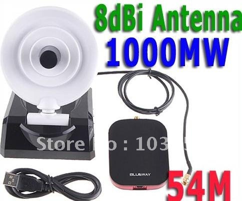 1000mW Directional USB WiFi Wireless Lan Card 54M 8dBi Dish Antenna(China (Mainland))