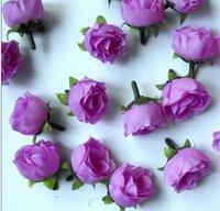 100 Purple Silk flower head rose wedding decoration  Free Shipping