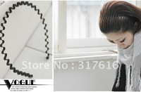 South Korean star, men and women, wavy hair hoop favorite general head hoop hair circle tide black