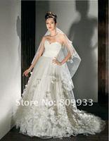 2012A+++New Arrive A-line Sweetheart Chiffon Sleeveless Wedding Dress