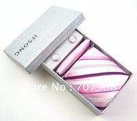Pink stripe tie gift sets
