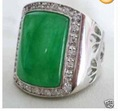 Charming Green Jade Men's Ring #9 .10.11