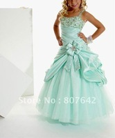 Hot Sale spaghetti straps Flower Girl dress Custom-size/color wholesale/retail Sky-711