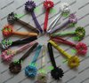 Children baby skinny nylon headband with 2 inch flower for girl hair accessories  15pcs