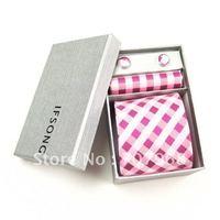 Pink violet grid tie