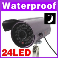 20pcs 24 LED IR Night vision outdoor waterproof camera 6mm lens CMOS CCTV Security Camera (P/N74 ED)