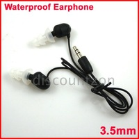 Free Shipping 3.5mm Plug Earphone/headphone for Swimming/Running/Sports Waterproof SPEEDO Aquabeat MP3 Player 3pcs/lot