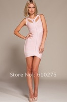 Одежда и Аксессуары 2013 NEW /Catch Fashion One Sleeve Mini dress / Celebrity Cocktail Party Evening Dresses LC2386
