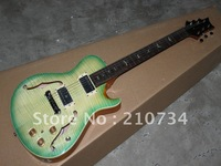 Wholesale -  ew signing habits instruments very beautiful green stripes classic hollow electric guitar