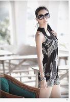 Free Shipping The new fashion/falbala dress/tall waist skirt/skirt with shoulder-straps