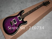 Wholesale -New signing habits instruments classic black edge purple electric guitar Free shipping